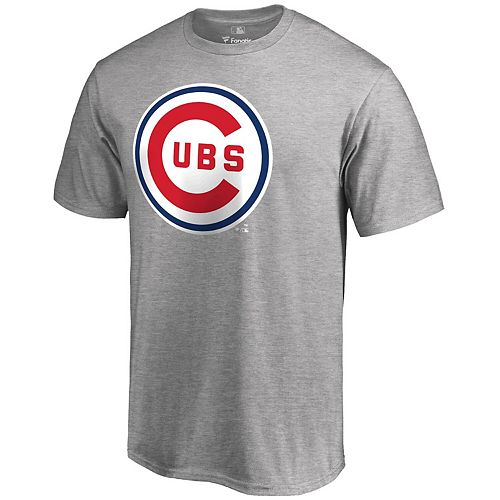 Men's Fanatics Branded Gray Chicago Cubs Cooperstown Forbes T-Shirt