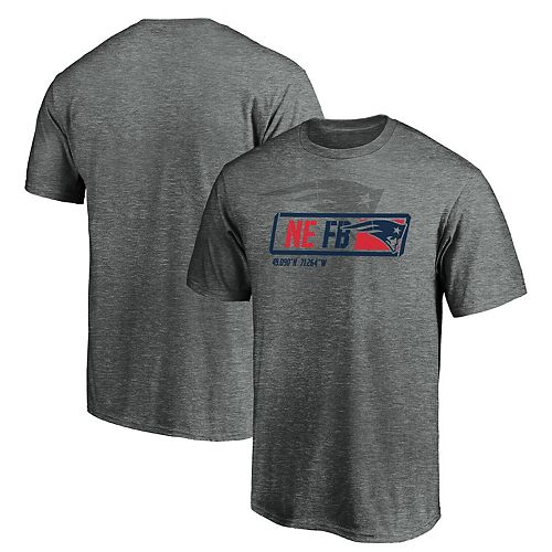 Men's NFL Pro Line by Fanatics Branded Gray New England Patriots Iconic Tricode Trainer T-Shirt