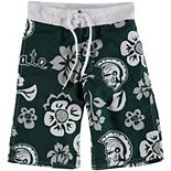 Youth Wes & Willy Green Michigan State Spartans Swim Trunks