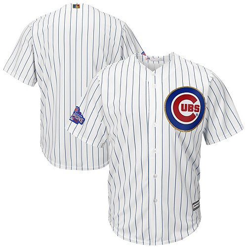 Youth Majestic White/Gold Chicago Cubs 2017 Gold Program Fashion Cool Base Replica Team Jersey