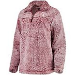 Women's Maroon Texas A&M Aggies Sherpa Super Soft Quarter Zip Pullover Jacket