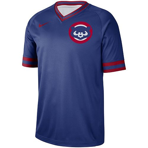 Men's Nike Royal Chicago Cubs Cooperstown Collection Legend V-Neck Jersey