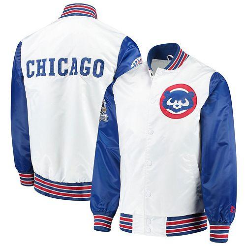 Men's Starter White Chicago Cubs The Legend Jacket