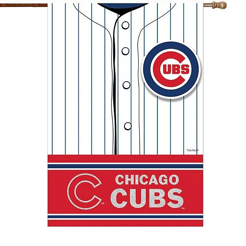 """Chicago Cubs 29"""" x 43"""" Double-Sided Jersey Foil House Flag"""