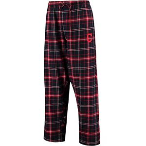 Men's Concepts Sport Navy/Red Cleveland Indians Ultimate Plaid Flannel Pants