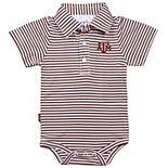 Infant Garb Maroon/White Texas A&M Aggies Carson Striped Short Sleeve Bodysuit