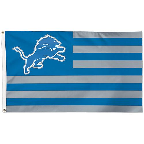 WinCraft Detroit Lions 3' x 5' Americana Stars & Stripes Deluxe Flag