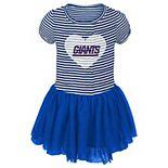 Girls Preschool Royal/White New York Giants Celebration Tutu Sequins Dress