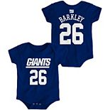 Infant Saquon Barkley Royal New York Giants Mainliner Name & Number Bodysuit