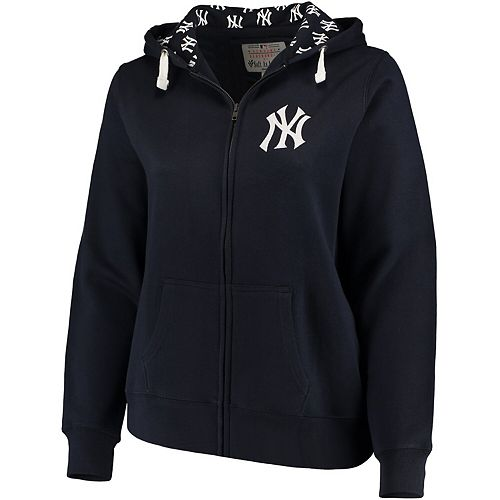 Women's Soft as a Grape Navy New York Yankees Plus Size Pennant Race Full-Zip Hoodie