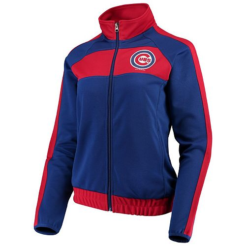 Women's G-III 4Her by Carl Banks Royal/Red Chicago Cubs Punt Track Jacket