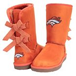 Women's Cuce Orange Denver Broncos Patron Bow Boots