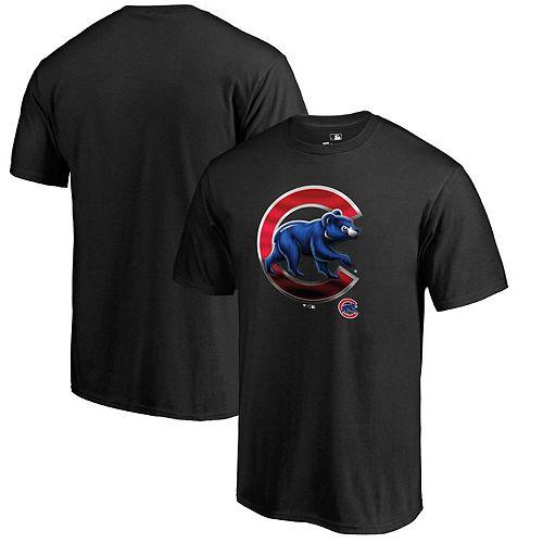 Men's Fanatics Branded Black Chicago Cubs Big & Tall Midnight Mascot T-Shirt