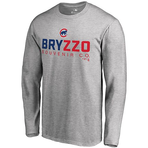 Men's Fanatics Branded Kris Bryant/Anthony Rizzo Gray Chicago Cubs Bryzzo Player Hometown Long Sleeve T-Shirt