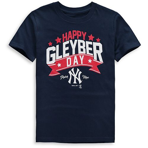 Youth Majestic Gleyber Torres Navy New York Yankees Player Graphic T-Shirt