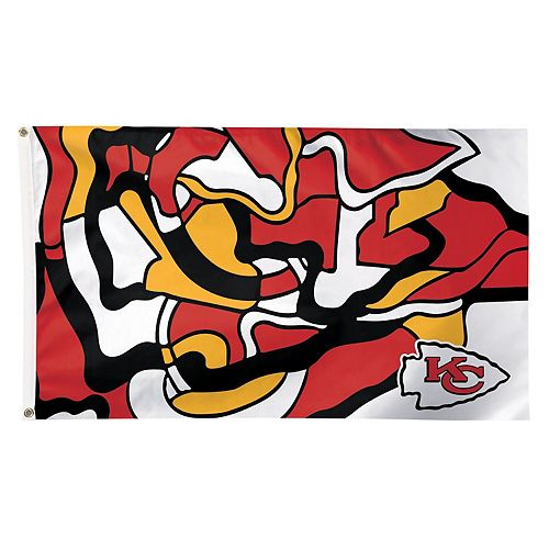 WinCraft Kansas City Chiefs 3' x 5' NFLxFIT Deluxe One-Sided Flag