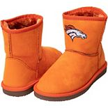 Women's Cuce Orange Denver Broncos The Rookie Mini Boots