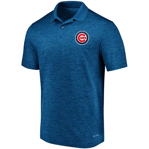 Men's Majestic Royal Chicago Cubs Targeting Success Domestic Cool Base Polo