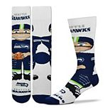 Youth For Bare Feet Seattle Seahawks Bobble Head Quarter-Length Socks