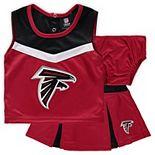 Girls Preschool Red Atlanta Falcons Two-Piece Spirit Cheer Cheerleader Set With Bloomers