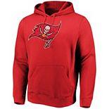 Men's Majestic Red Tampa Bay Buccaneers Line of Scrimmage Pullover Hooded Sweatshirt