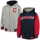 Youth JH Design Navy Cleveland Indians Hooded Jacket