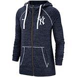 Women's Nike Navy New York Yankees Gym Vintage Team Full-Zip Hoodie
