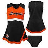 Girls Toddler Black/Orange Cincinnati Bengals Cheer Captain Jumper Dress