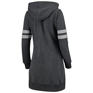 Women's Heathered Gray Syracuse Orange Pressbox Hooded Sweatshirt Dress