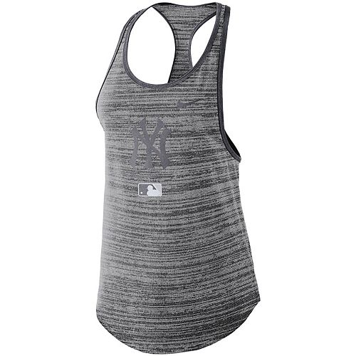 Women's Nike Gray New York Yankees Authentic Collection Velocity Team Issue Racerback Tank Top