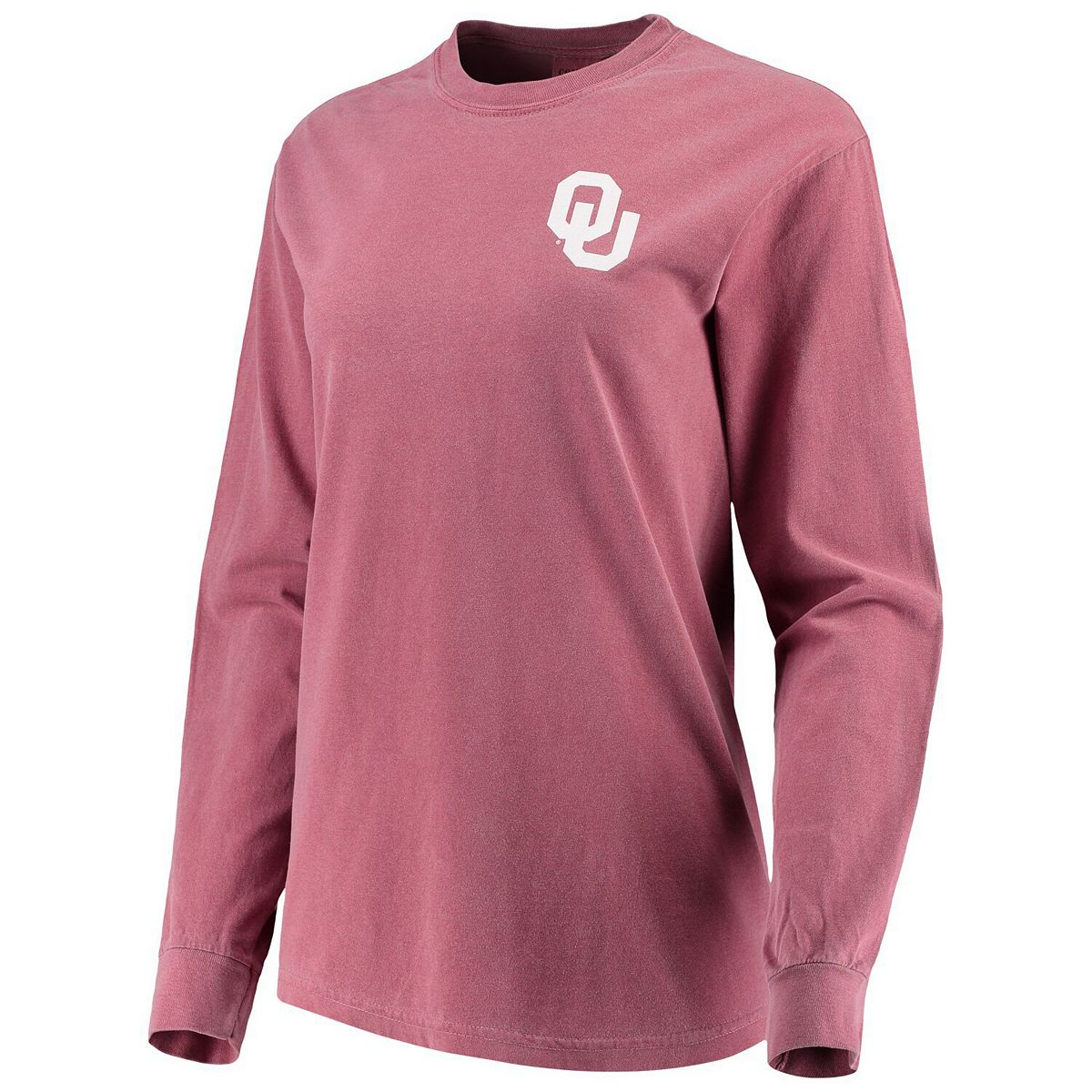Women's Crimson Oklahoma Sooners Comfort Colors Campus Skyline Long Sleeve Oversized T-Shirt 9wCWl