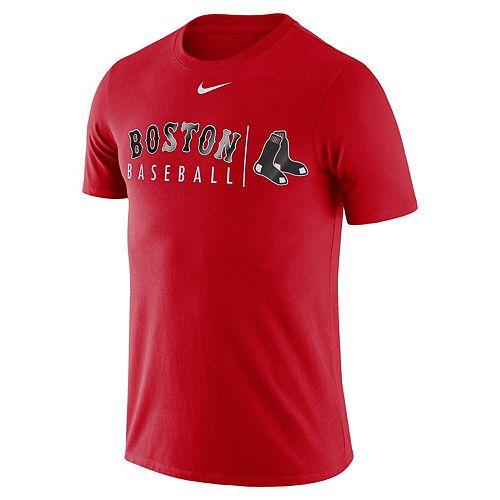 Nike Mens Boston Red Sox White MLB Practice T-Shirt