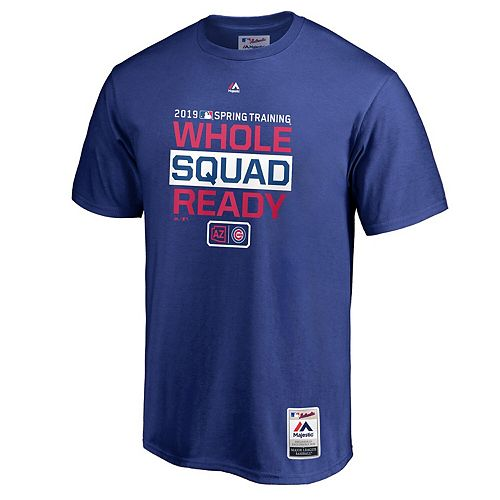 Men's Majestic Royal Chicago Cubs 2019 Spring Training Authentic Collection T-Shirt