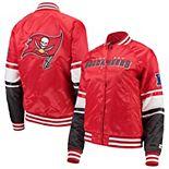Women's Starter Red Tampa Bay Buccaneers Victory Cheer Raglan Jacket