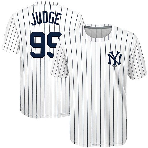 meet d1782 05ebb Youth Majestic Aaron Judge White New York Yankees Sublimated Cooperstown  Collection Jersey T-Shirt