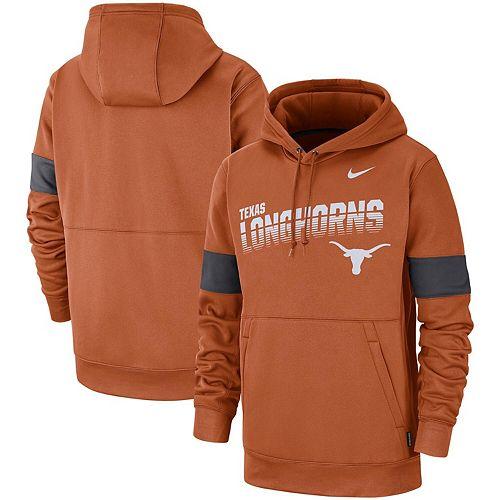 Men's Texas Orange Nike Texas Longhorns 2018 Sideline Performance Hoodie