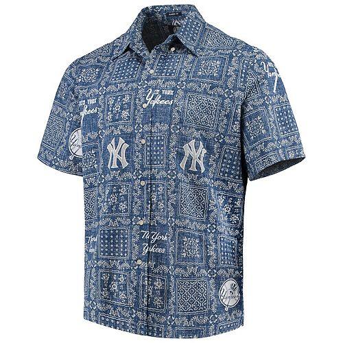 Men's Reyn Spooner Navy New York Yankees Lahaina Button-Down Shirt