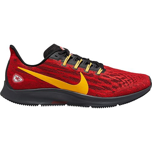 Men's Nike Red/Gold Kansas City Chiefs Air Zoom Pegasus 36 Running Shoes