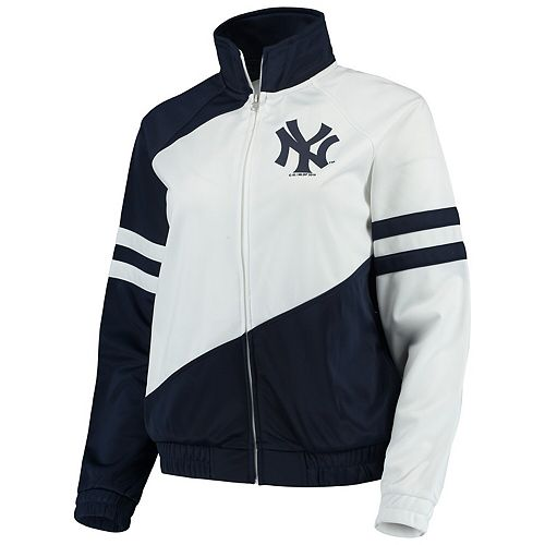 Women's G-III 4Her by Carl Banks Navy/White New York Yankees Perfect Pitch Track Jacket