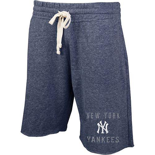 Men's Concepts Sport Heathered Navy New York Yankees Mainstream Tri-Blend Shorts