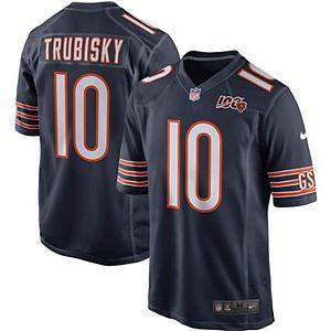 Men's Nike Mitchell Trubisky Navy Chicago Bears 100th Season Game Jersey