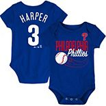 Bryce Harper Philadelphia Phillies Majestic Newborn & Infant Baby Slugger Name & Number Bodysuit - Royal