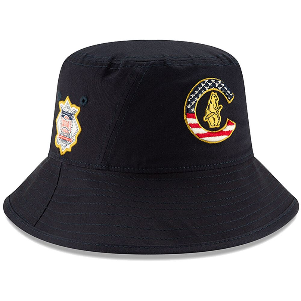 Men's New Era Navy Chicago Cubs 2019 Stars & Stripes 4th of July Bucket Hat