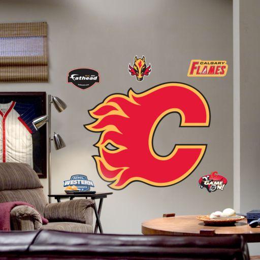 Fathead Calgary Flames Logo Wall Decal
