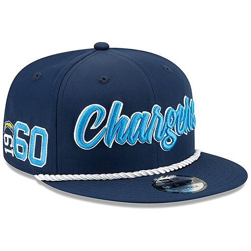 Men's New Era Navy Los Angeles Chargers 2019 NFL Sideline Home Official 9FIFTY 1960s Snapback Adjustable Hat