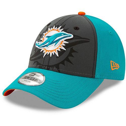 Youth New Era Graphite/Aqua Miami Dolphins Reflect 9FORTY Snapback Hat