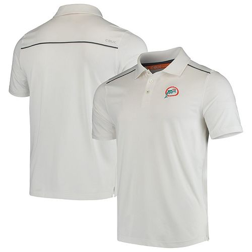 Miami Dolphins CBUK by Cutter & Buck Throwback Chance Polo - White
