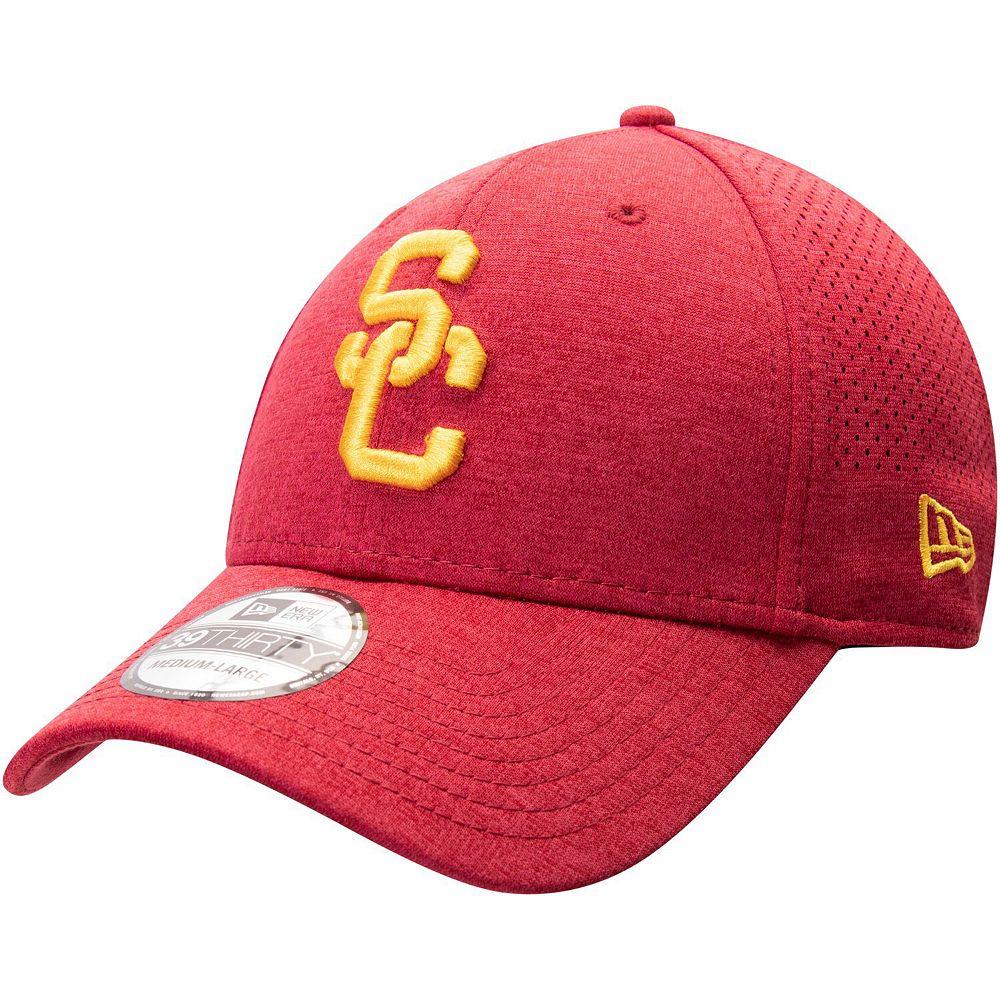 Men's New Era Cardinal USC Trojans Perforated 39THIRTY Flex Hat