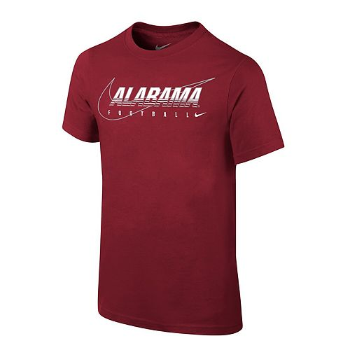 Youth Nike Crimson Alabama Crimson Tide Sideline Facility T-Shirt