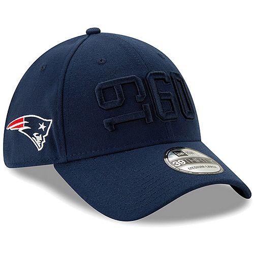 Men's New Era Navy New England Patriots 2019 NFL Sideline Color Rush 39THIRTY Flex Hat